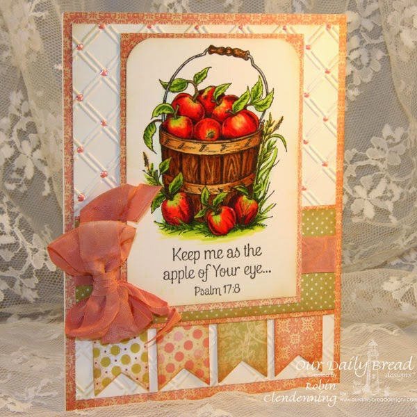 Our Daily Bread Designs, Apples, Blushing Rose Paper Collection, Designed by Robin Clendenning