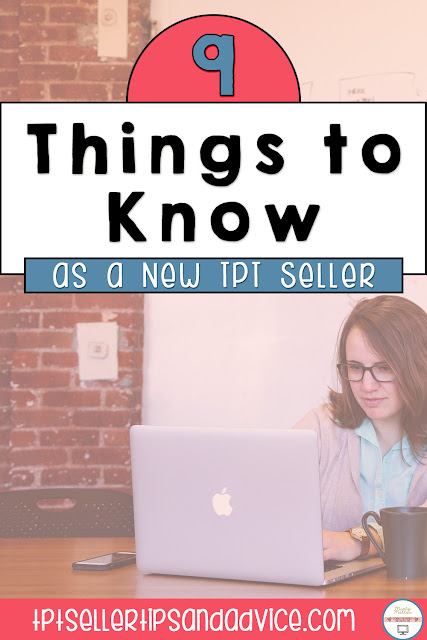 9 Things to Know as a New TPT Seller Image of woman sitting at laptop working