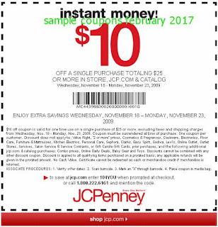 free JcPenney coupons february 2017