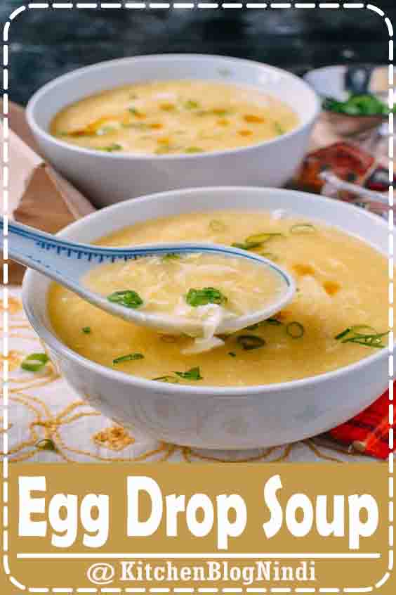 4.8★★★★★ | This easy egg drop soup recipe will taste just like your favorite Chinese restaurant's egg drop soup (maybe a little better). It's delicious, and can be made in minutes. #EggDrop #Soup