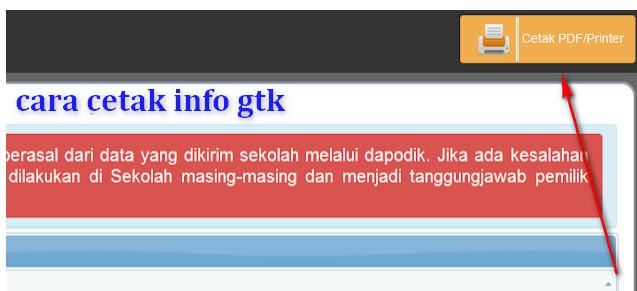 Cara Print Laman Info GTK
