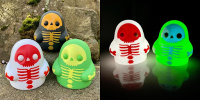 "Tiny Ghost Skeleton Edition 3"" Vinyl Figure Set by Reis O'Brien x Bimtoy x Bottleneck Gallery"