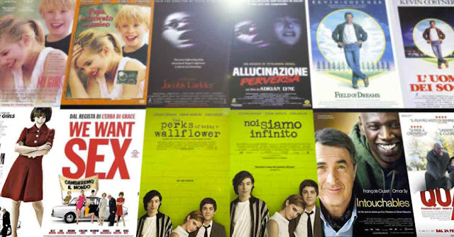 Collage di copertine originali con a fianco quella italiana