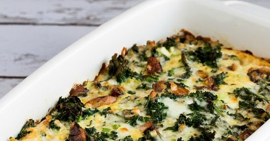 Kalyn's Kitchen®: Sausage, Kale, and Mozzarella Egg Bake