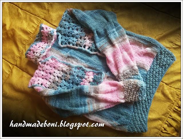 Sweter z bolerkiem dla dziewczynki. Zrób razem ze mną :-)