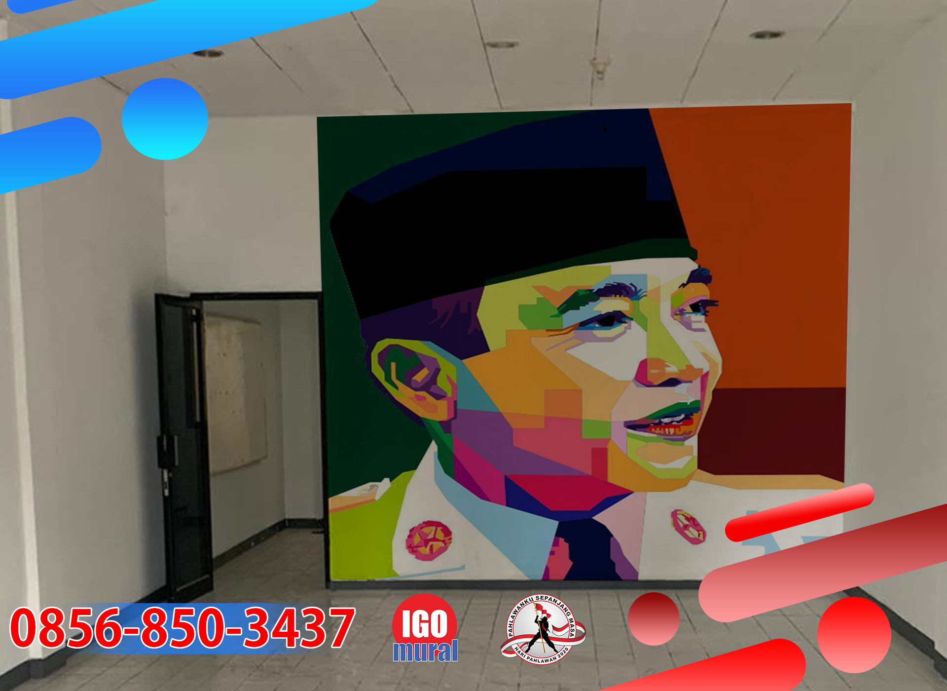 Contoh Mural Pahlawan ir. Soekarno