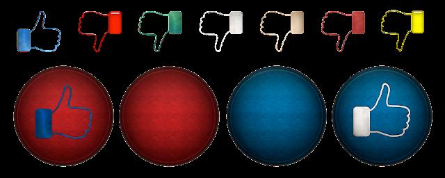 Optional dislike button and mandatory comment on dislike in social media
