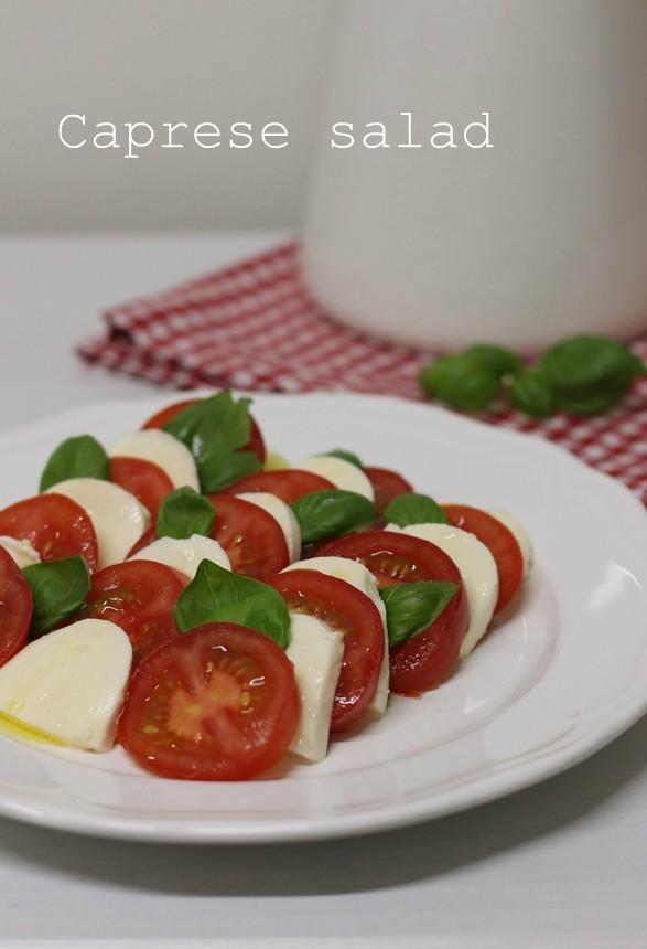 моцарела, домати, босилек