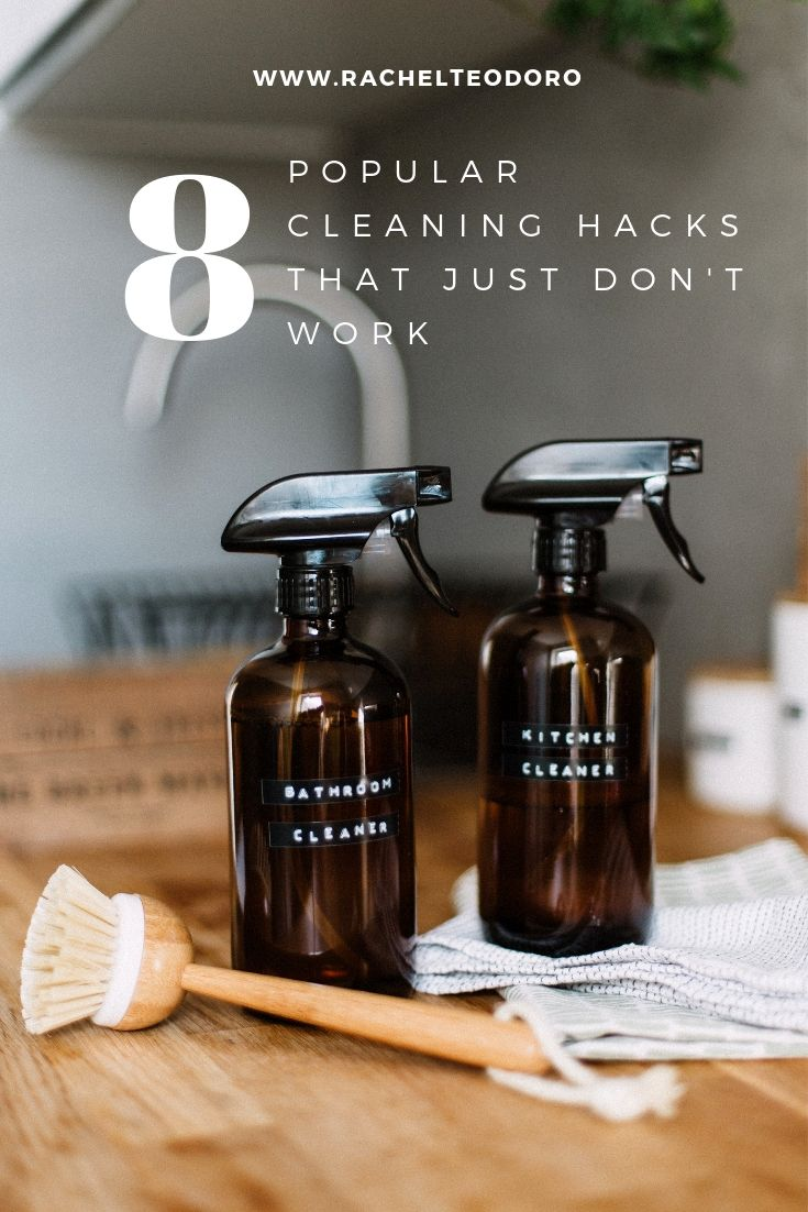 popular cleaning hacks that don't work