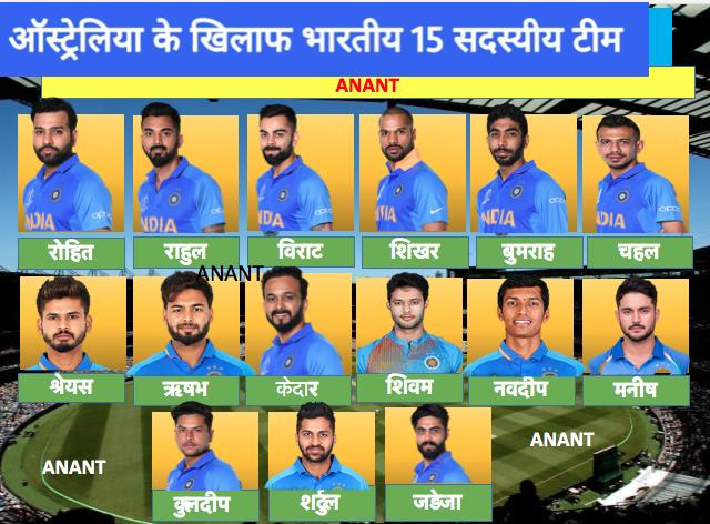 Full schedule of the India vs Sri Lanka and Australia series 2020