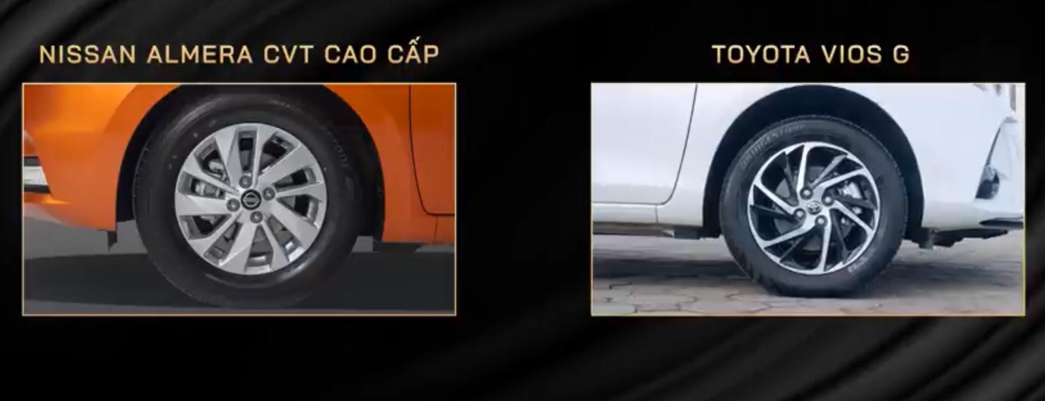 So sánh Toyota Vios và Nissan Almera 2021 về giá bán, trang bị tiện ích. 12