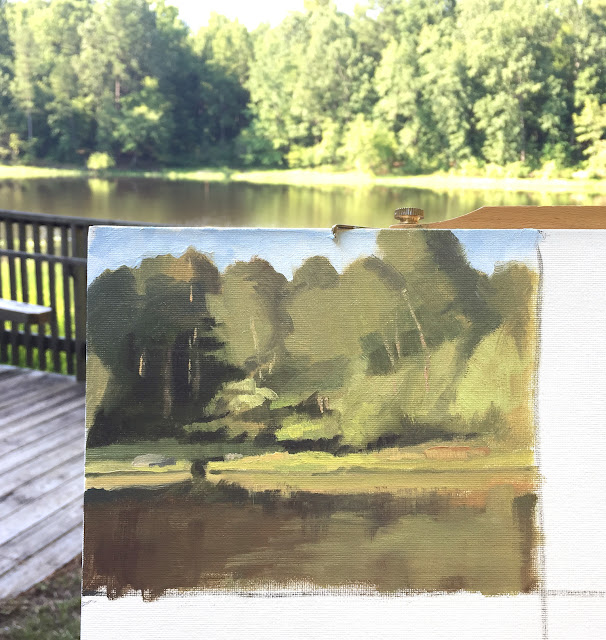 landscape study - plein air at Durant Nature Preserve Jul 20 2019