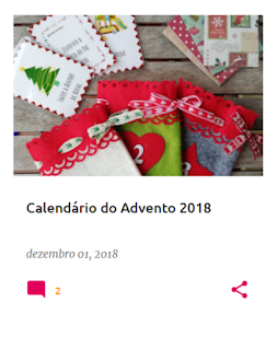 Cartas do calendário do advento de 2018
