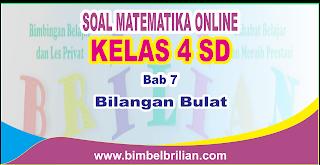 Soal Matematika Online Kelas 4 SD Bab 7 Bilangan Bulat - Langsung Ada Nilainya