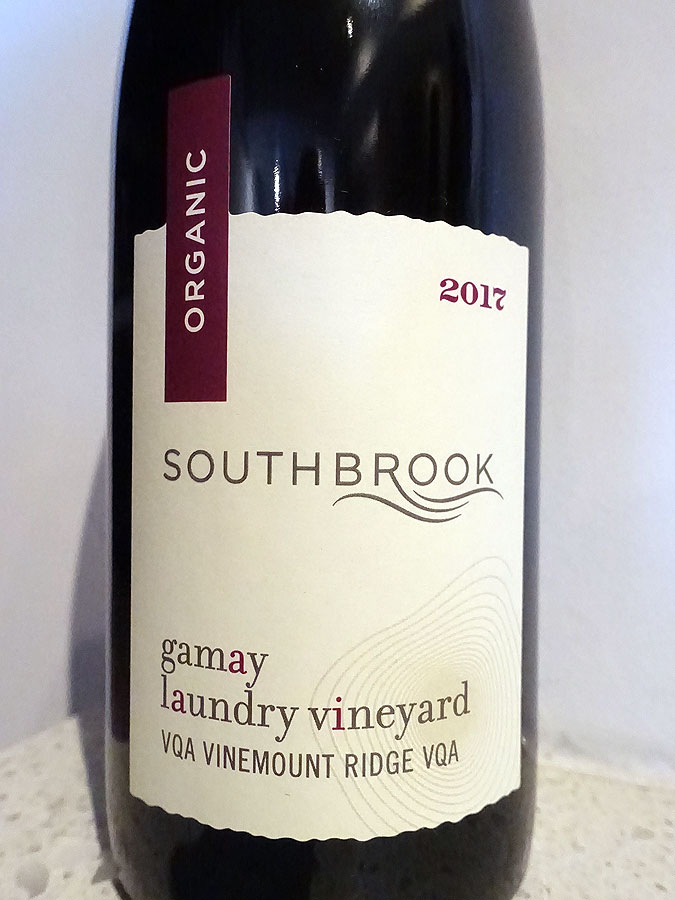 Southbrook Laundry Vineyard Gamay Noir 2017 (90 pts)