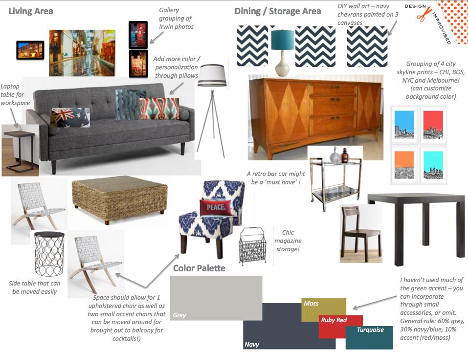 Phenomenal Emmas Urban Living Room Mood Board Design Improvised Bralicious Painted Fabric Chair Ideas Braliciousco