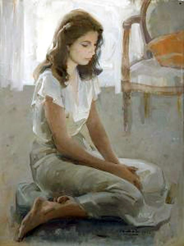 Retrato de mujer (1982), Félix Revello de Toro, Revello de Toro, Pintores Malagueños, Retratos de Revello de Toro, Pintor español, Pintores de Málaga