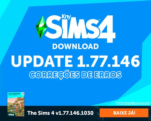 Download The Sims 4 Update/Atualização 1.77.146 + Crack