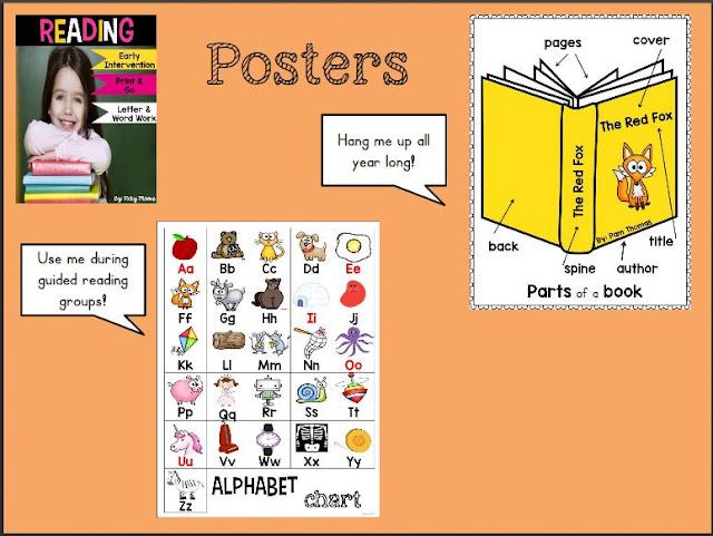 kindergarten reading posters