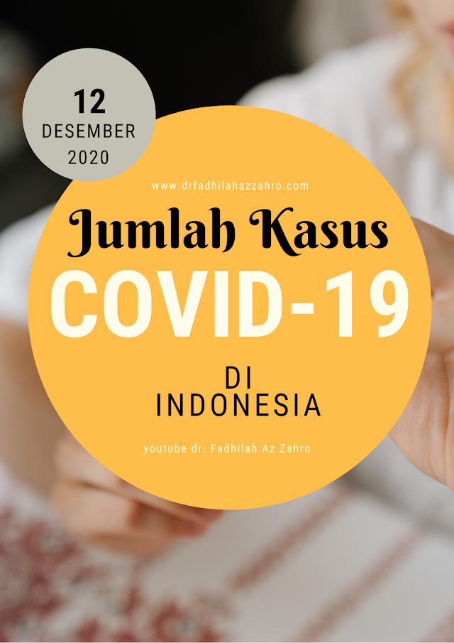 (Sabtu, 12  Desember 2020) Jumlah Terpapar Covid-19 di Indonesia