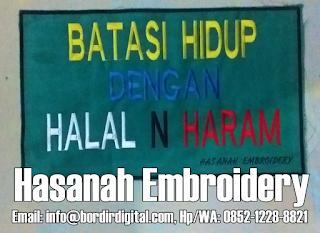 Cara Order dan Pemesanan Jasa Bordir Komputer - Hasanah Embroidery