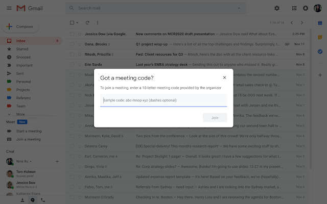 Start or Join a Google Meet Video Meeting Directly from Gmail 2