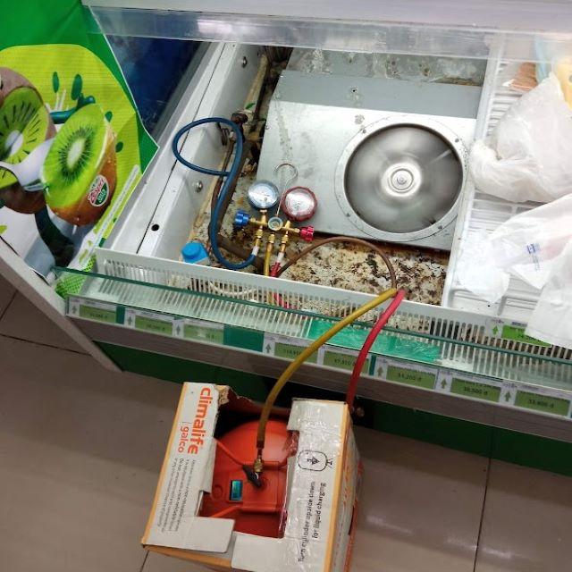 Sửa tủ trưng bày trái cây siêu thị