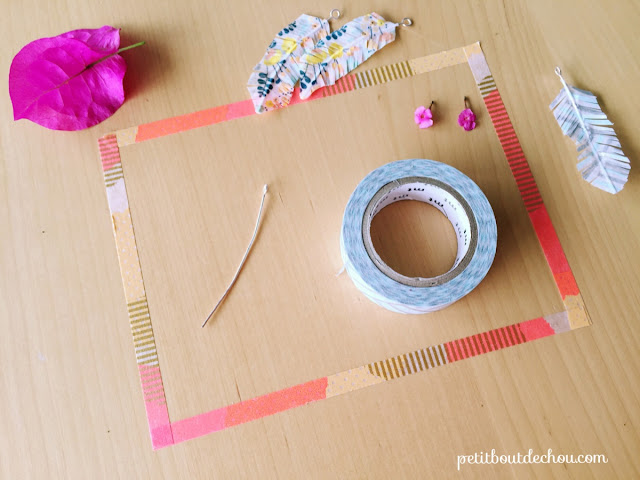 washi tape feather supplies