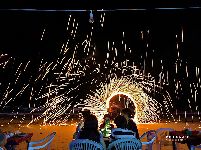 Dinner time Fire Show on Samet Island