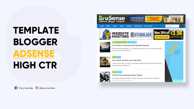 template blogger untuk adsense