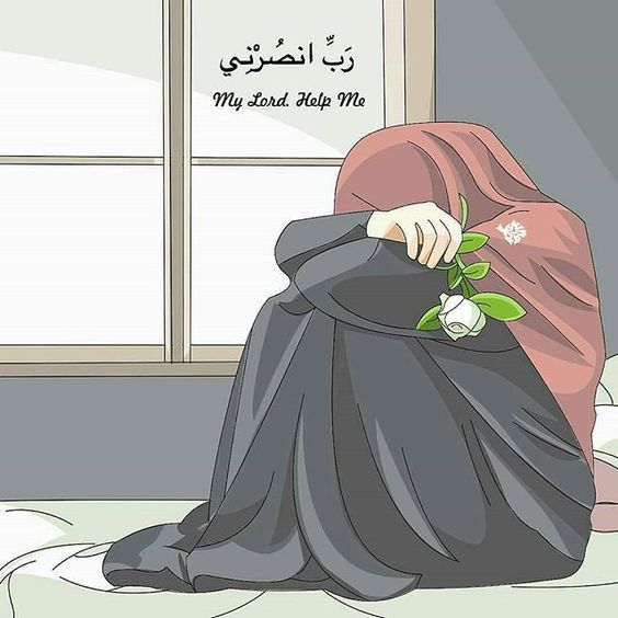 Gambar Kartun Muslimah Lucu Menangis