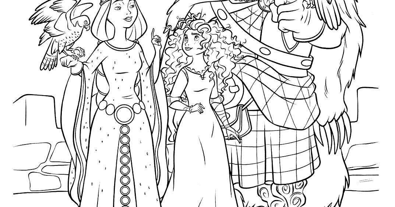 """Disney Soul: Dibujos para colorear de """"Brave (Indomable ..."""