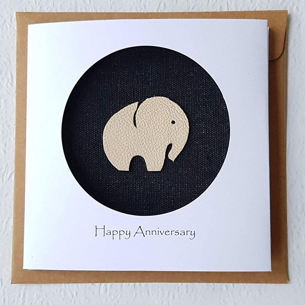ivory anniversary card