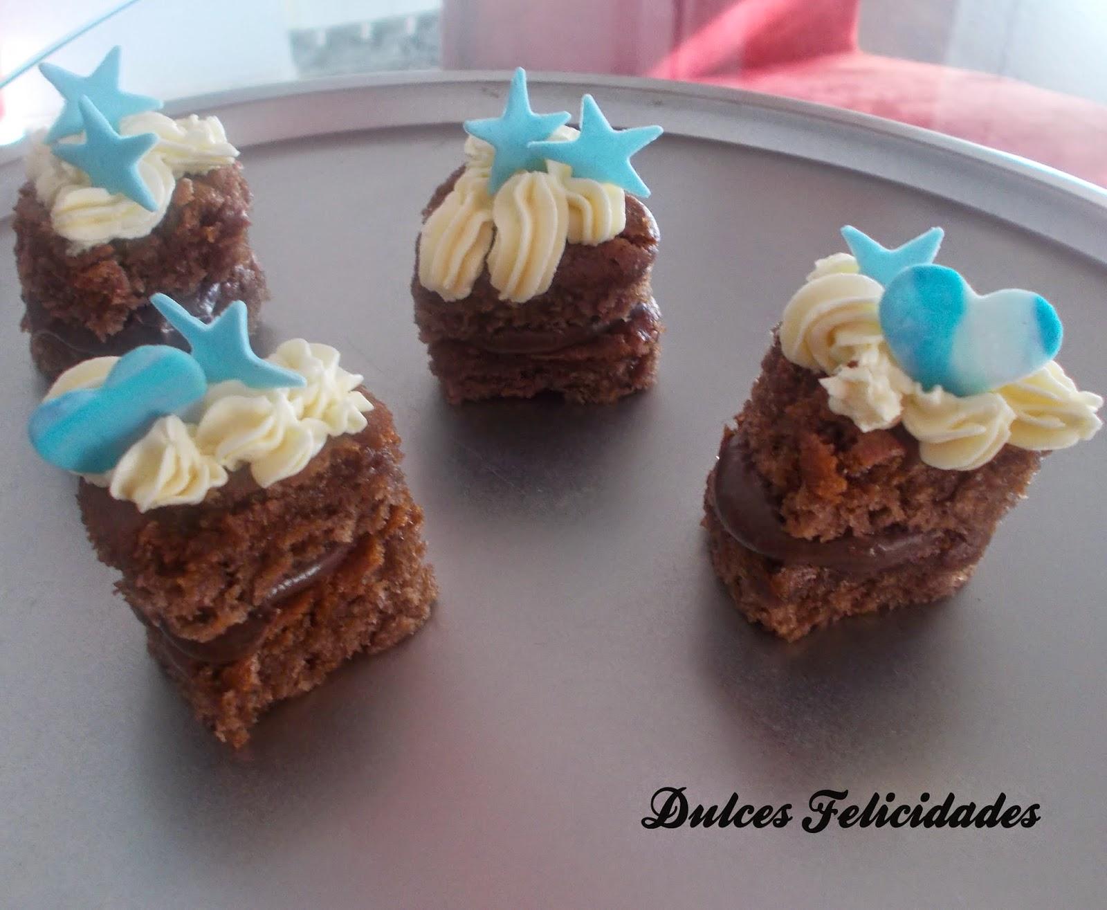 Pastelitos ganache de chocolate y buttercream