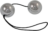 Silver Duotone Balls With String