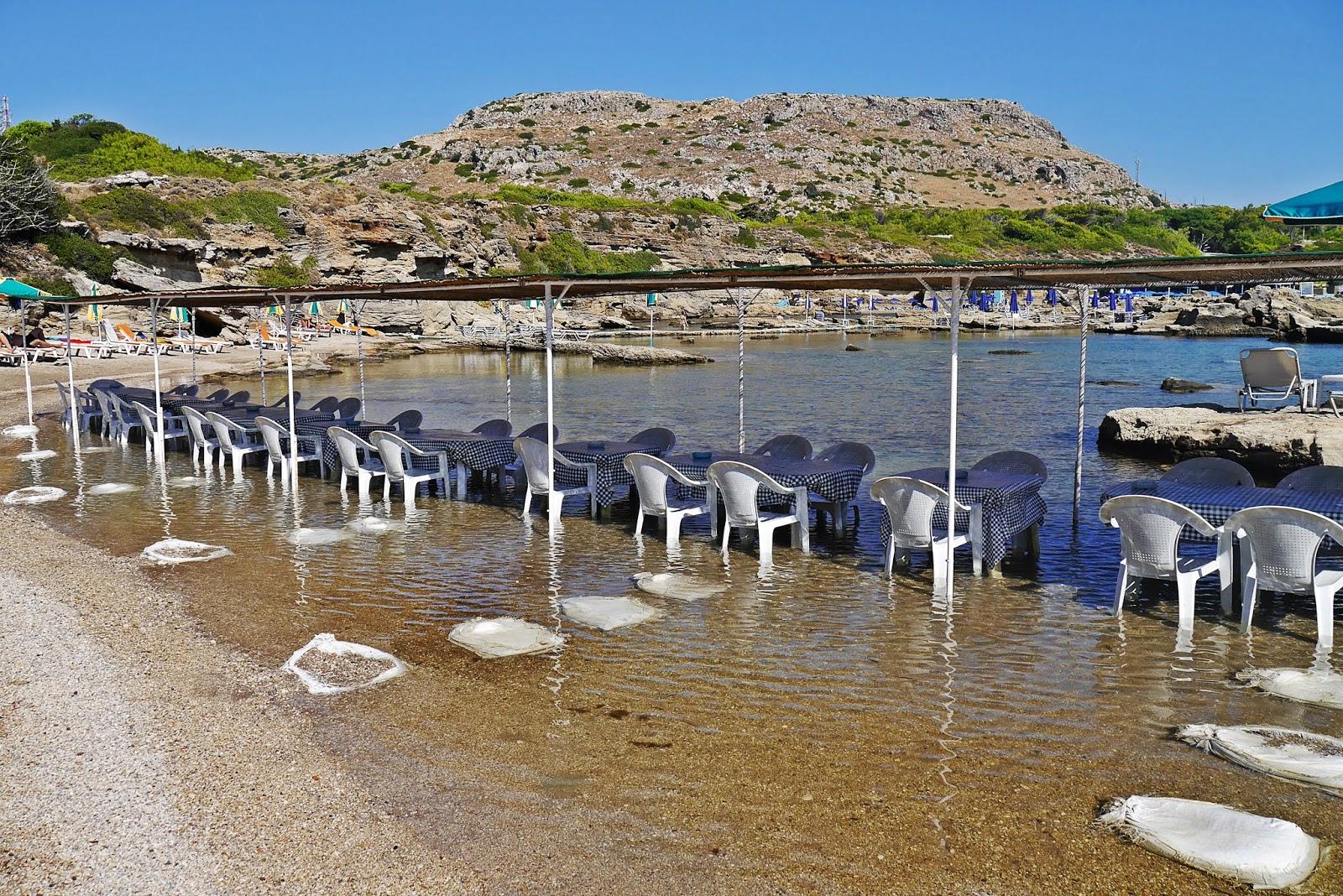nikolas beach plaża rodos rhodes grecja karyn blog modowy blogerka modowa karyn podróż poślubna