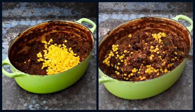 Making Mash Topped Chilli Pie - Step 1 - Chilli in pot