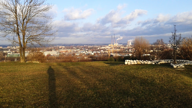 Panorama spod Kopca Krakusa - widać przede wszystkim Podgórze