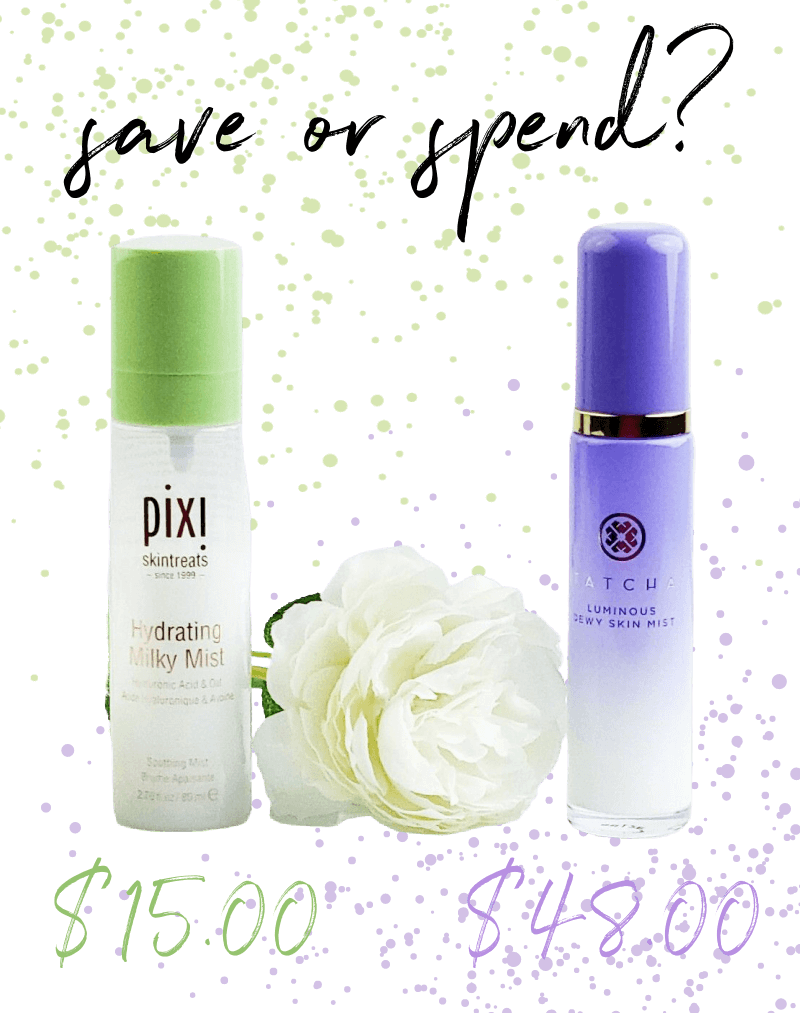 Save or Spend | Pixi Hydrating Milky Mist or Tatcha Luminous Dewy Skin Mist - Which one Wins? 1