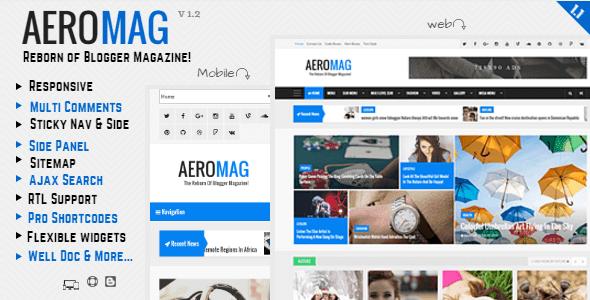 AeroMag Responsive Magazine Blogger Template