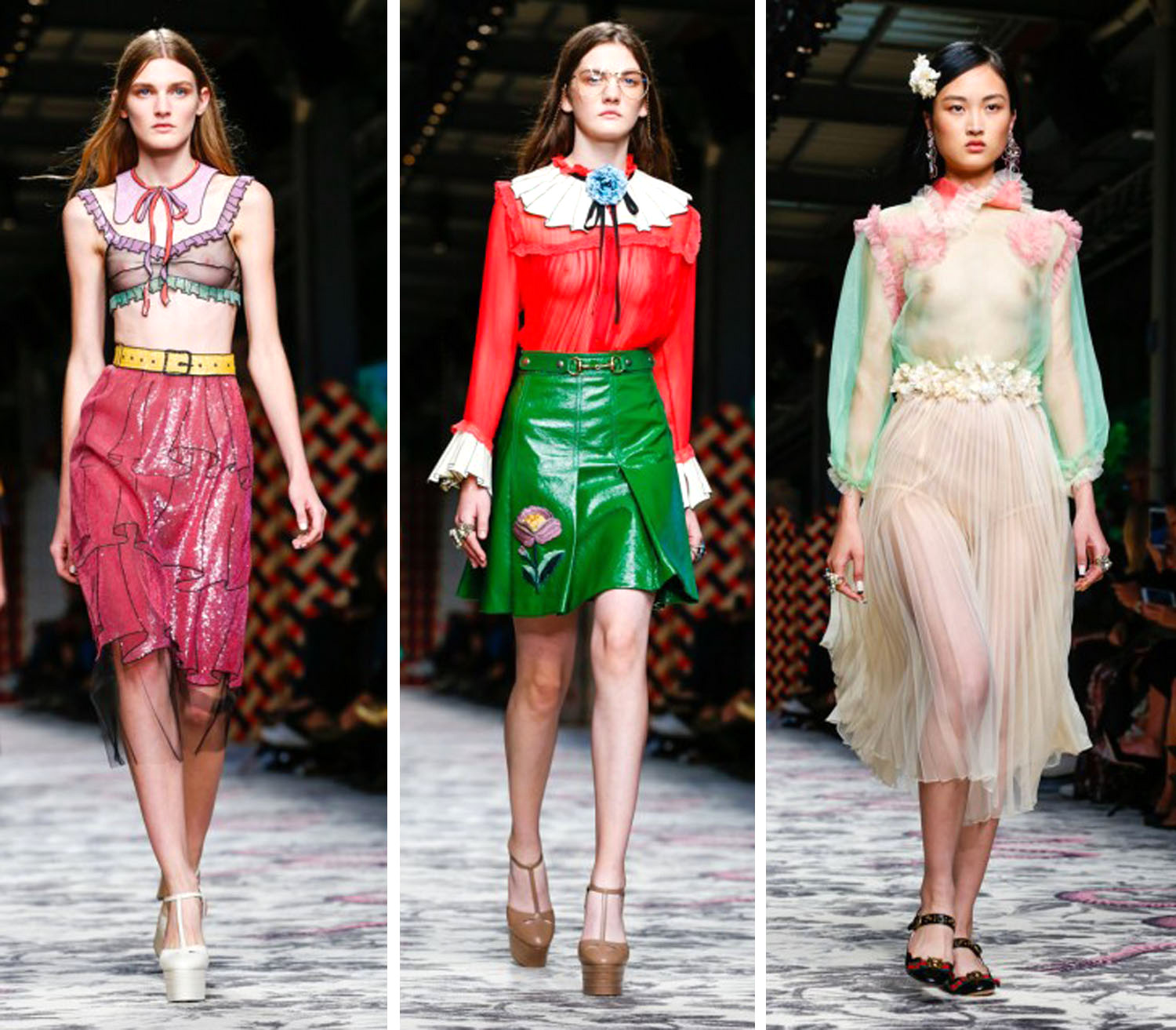 12815f6a354 One thing that s clear about the Gucci Spring Summer  16 presentation