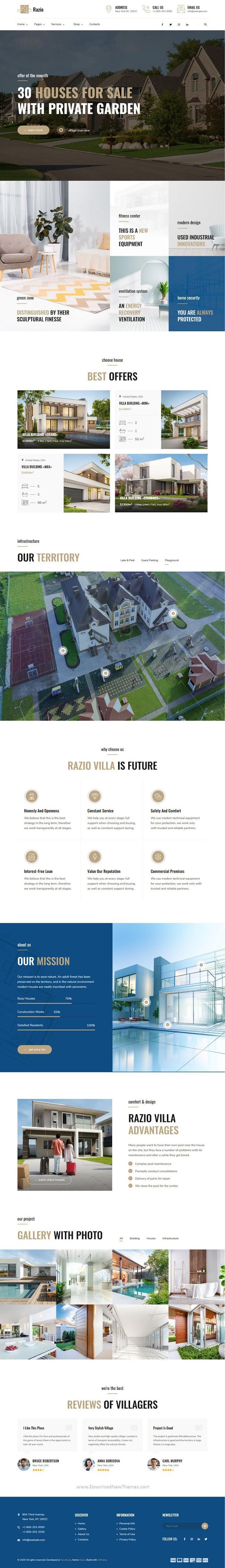Real Estate and Housing Complex Premium WordPress Theme