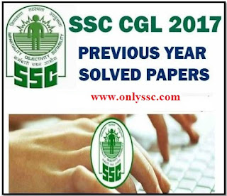 SSC CGL 2017 Tier 1 Question Papers with Answer Key PDF Download