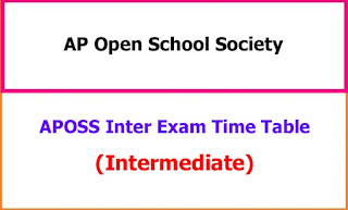 APOSS Inter Exam Time Table 2021