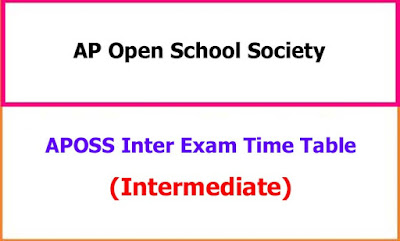 APOSS Inter Exam Time Table