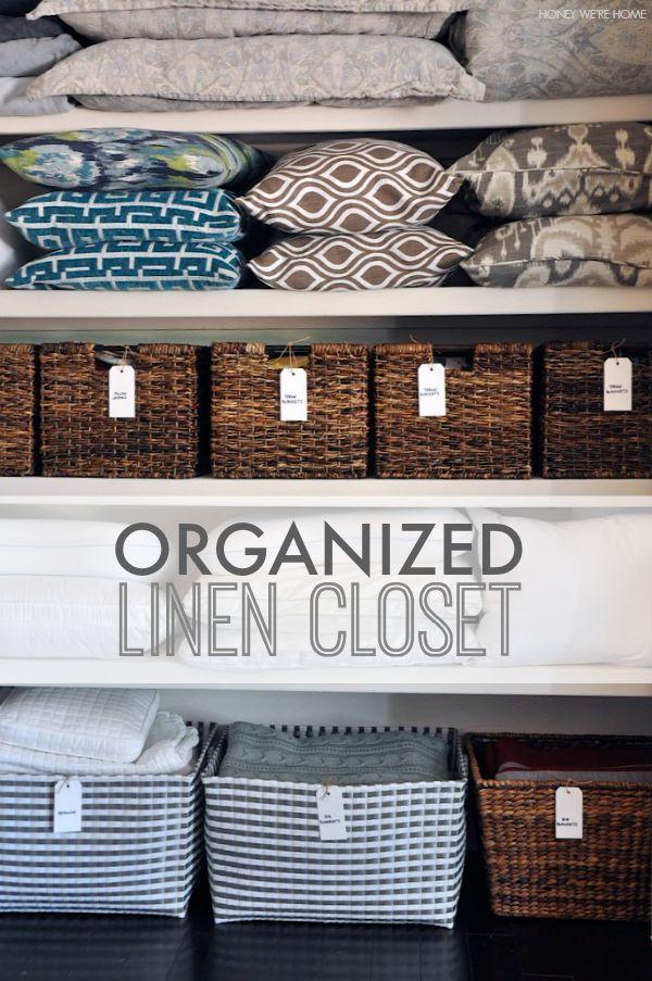 Honey We Re Home Organized Linen Closet