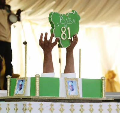 See Obasanjo's Beautiful 81st Birthday Cake