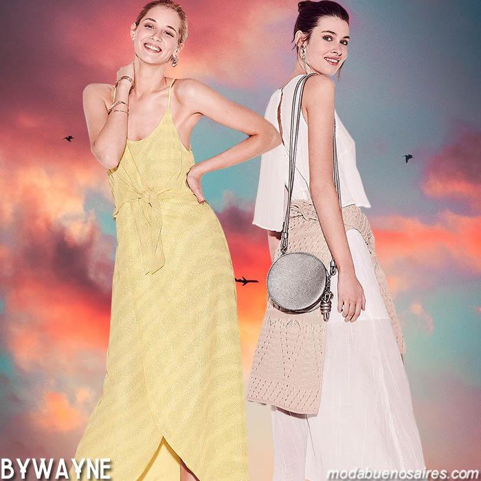 Moda primavera verano 2020 vestidos, faldas y blusas looks tendencia verano 2020.