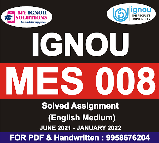 MES 008 Solved Assignment 2021-22