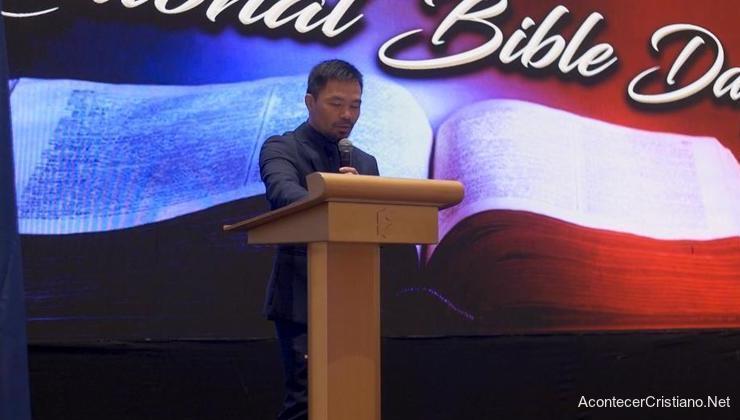 Discurso de Manny Pacquiao en el Día Nacional de la Biblia en Filipinas